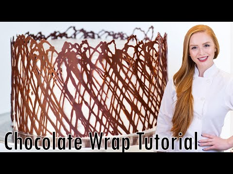 Chocolate Cake Wrap - Cake Decorating Tutorial