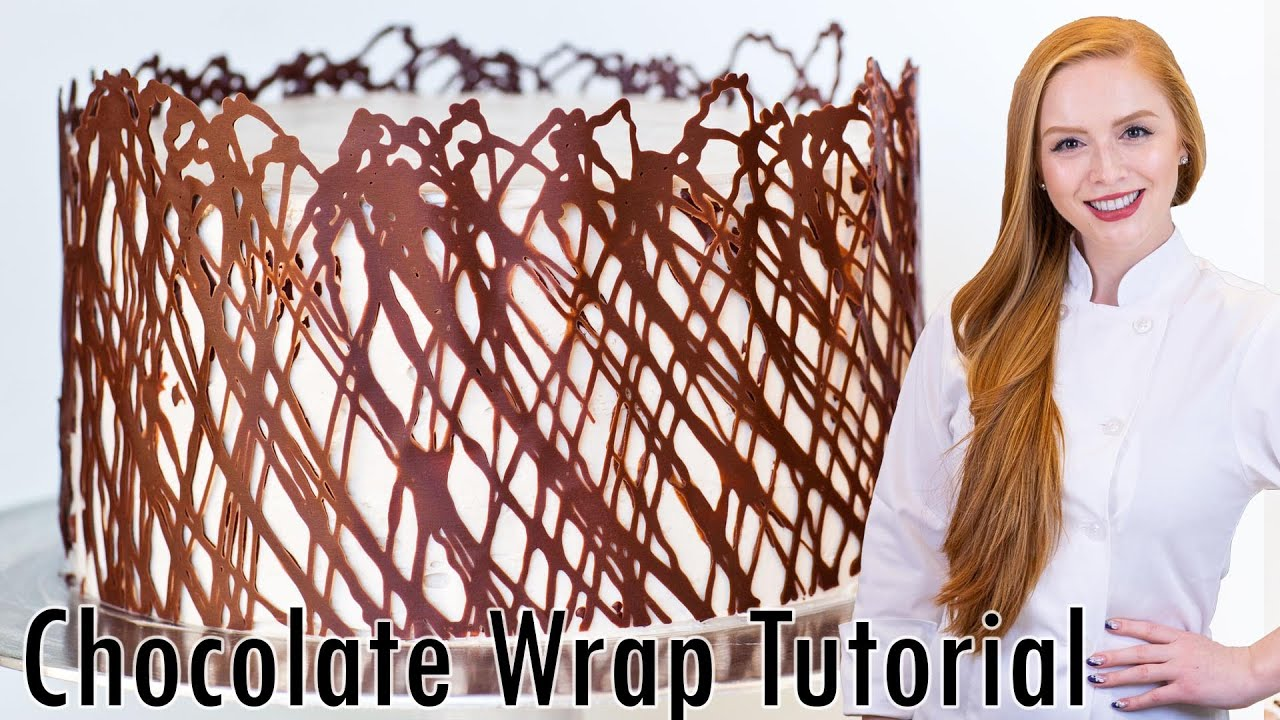 Chocolate Cake Wrap Cake Decorating Tutorial Youtube