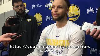 "Entire STEPH CURRY interview, ankle sprain status: ""I can do all that stuff right now"" + Panthers"