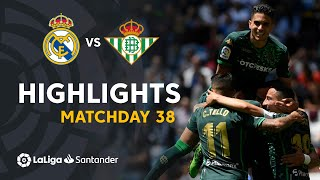 Highlights Real Madrid vs Real Betis (0-2)
