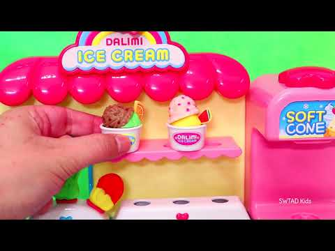 Barbie LOL Families Get Ice Cream ! Toys and Dolls Learning Video for Children   SWTAD Kids