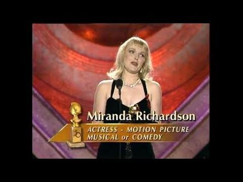 Miranda Richardson Wins Best Actress Motion Picture Musical or Comedy  Golden Globes 1993