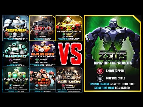Real Steel WRB ALL UW I VS ZEUS KING OF THE ROBOTS Series Fights (Живая Сталь)