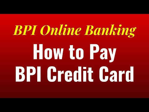 How to Pay BPI Credit Card through BPI Express Online