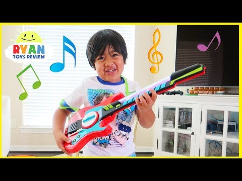 Ryan Pretend Play With Musical Instruments Toys For Kids!!!