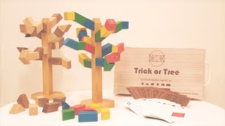 """""""Trick or Tree"""" : Handmade Magnetic Wooden Blocks Toy & Game"""
