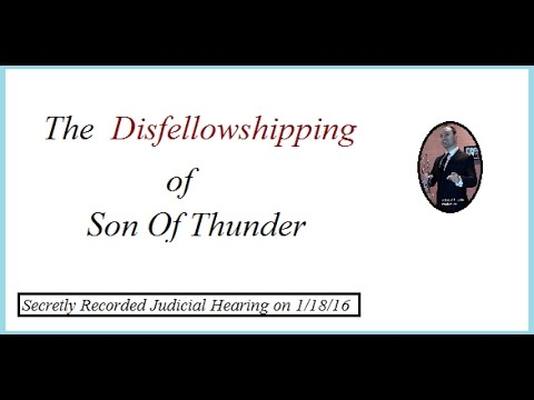 Disfellowshipping caught on tape. Jehovah