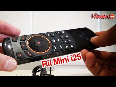 Rii Mini I25 - обзор: пульт (воздушная мышь) с русским языком