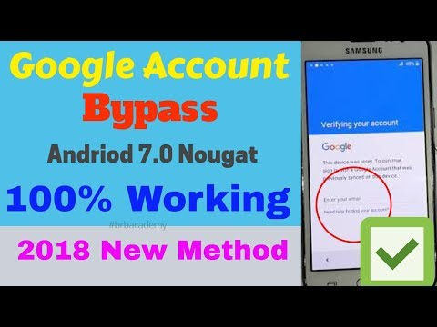 How to bypass FRP 2018 ( All Android 7) With One Click ~ BRB Teach