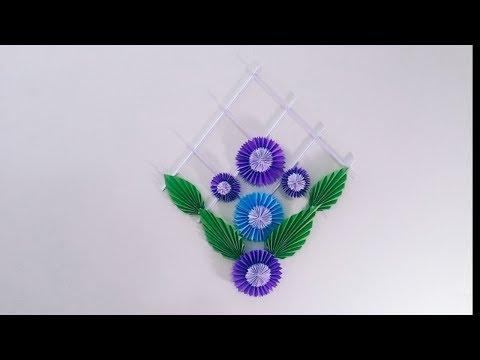 DIY Room Decor -Paper flower  by Crafty Sohag
