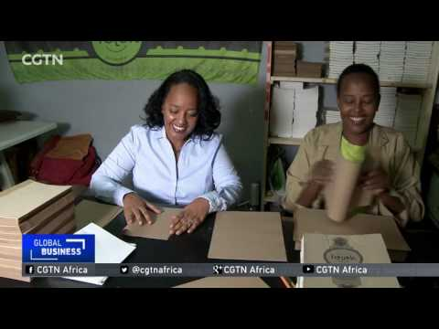 Ethiopia's couple experiments with bespoke items made from waste