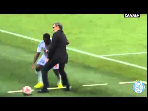 Laurent Blanc vs Brice Dja Djédjé   PSG vs OM (2-0) - Ligue 1