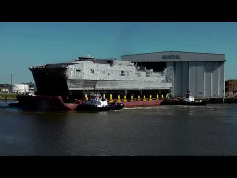 Austal USA - USNS Carson City (T-EPF 7) Rollout and Launch