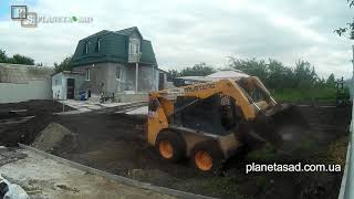 Планировка Чернозема На Участке С Помощью Bobcat