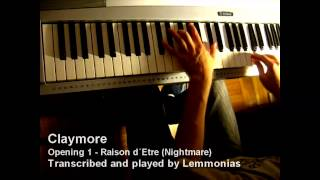 Claymore Opening 1 piano + music sheet