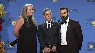 Pixar's 'Coco' - 2018 Golden Globes - Director's Full Backstage Speech
