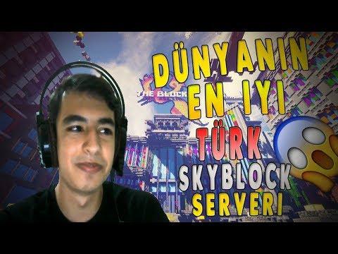DÜNYANIN EN İYİ TÜRK SKYBLOCK SERVERİ !! (MİNECRAFT)
