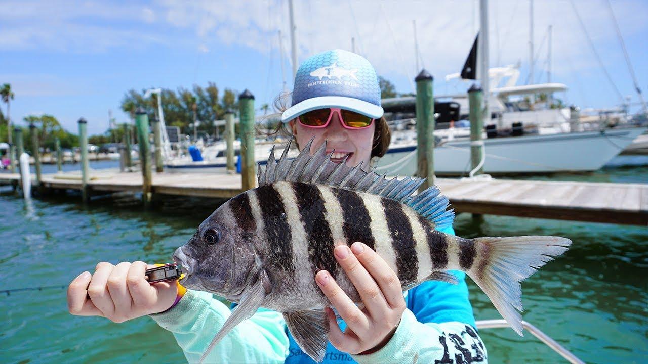 Sheepshead Challenge (Saltwater Fishing Florida Sheephead ...Saltwater Sheepshead