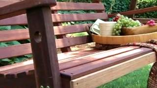 Bay Ridge Wood Porch Swing with Optional Swing Cushion - Product Review Video