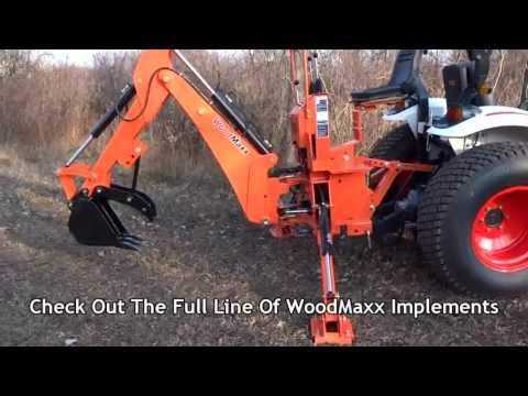 WoodMaxx WM-7600 Backhoe Walk Around 2013 - YouTube