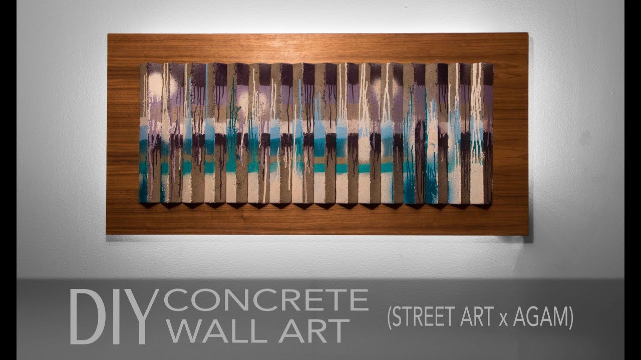 How to Make Concrete Wall Art w/ LED backlight (Agamograph x Street Art)