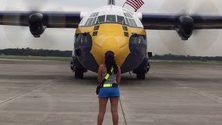 Blue Angels C-130 Fat Albert start up!