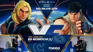 SFV: EG | Momochi vs Tokido - SEAM 2016 Grand Finals - CPT 2016