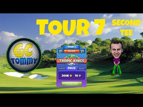 Golf Clash tips, Hole 1 - Par 4, Santa Ventura - Tropic Kings, Tour 7 - GUIDE/TUTORIAL