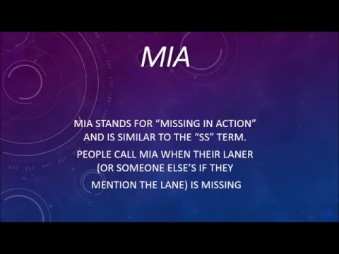 What Does MIA Mean? - LoL Terms