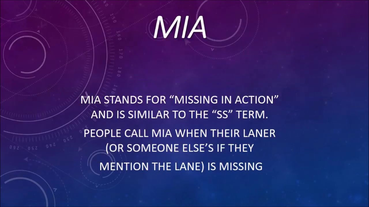 What Does MIA Mean? - LoL Terms - YouTube