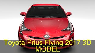 3D Model of Toyota Prius Flying 2017 Review