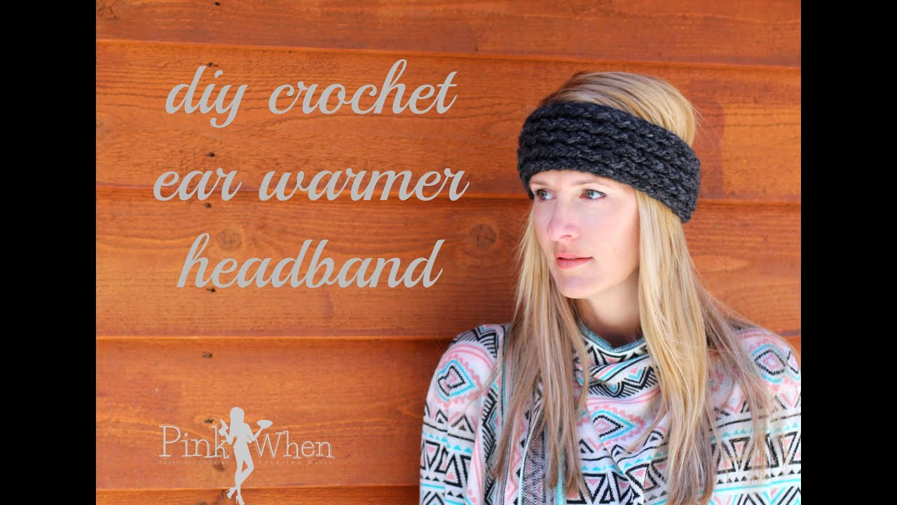 DIY: Crochet Ear Warmer Headband - Under an Hour - with Loom ...