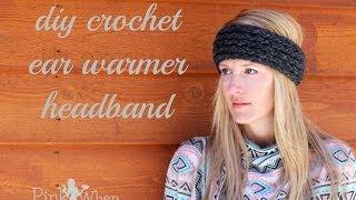 DIY: Crochet Ear Warmer Headband - Under an Hour - with Loom Knitting Video Tutorial Thumbnail