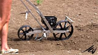 The Canadian Garden prt. 6  - Using the EarthWay Precision Garden Seeder .  YouTube