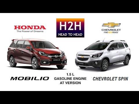 H2h 65 Honda Mobilio Vs Chevrolet Spin Youtube
