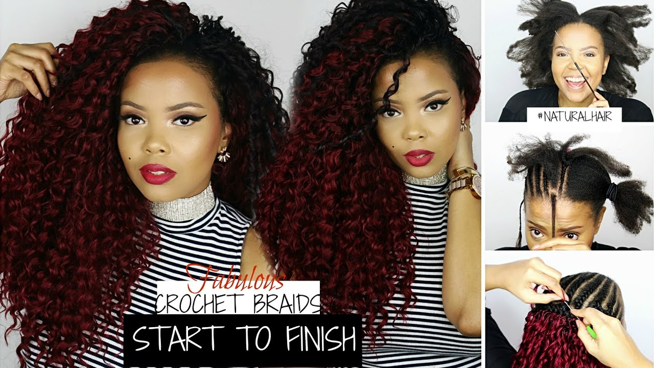 How To Crochet Braids On Natural Hair Start To Finish Zury