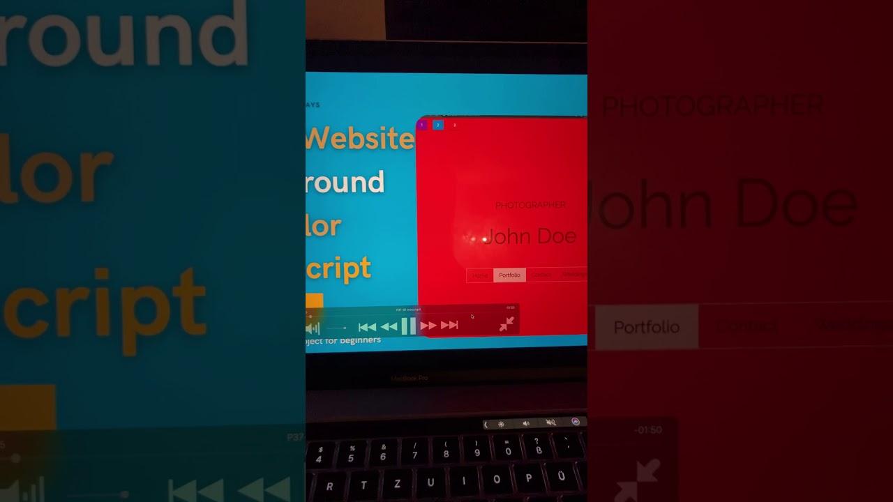 JavaScript Project Change Website Background Color