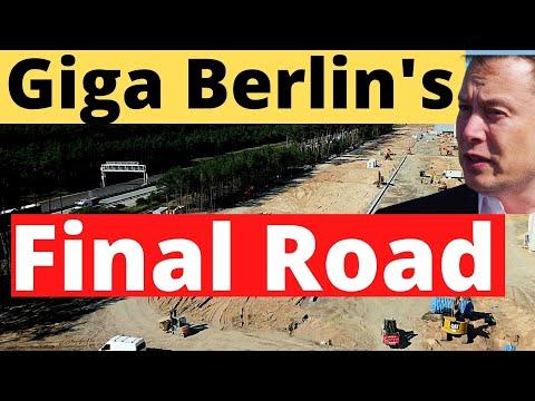 HOURS AGO! Watch Tesla Giga Berlin's Final Road and Battery Construction Progress