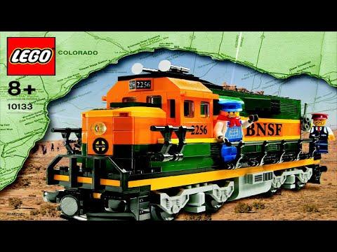LEGO Burlington Northern Santa Fe Locomotive 10133 (Instruction Booklet)