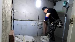 구로구 구일현대아파트 욕실리모델링(타일본드시공방법)4배…