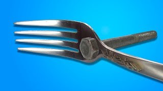 16 LIFE HACKS WITH SPOONS AND FORKS