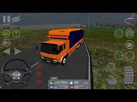 New mod BUSSID fighter truck FUSO Review