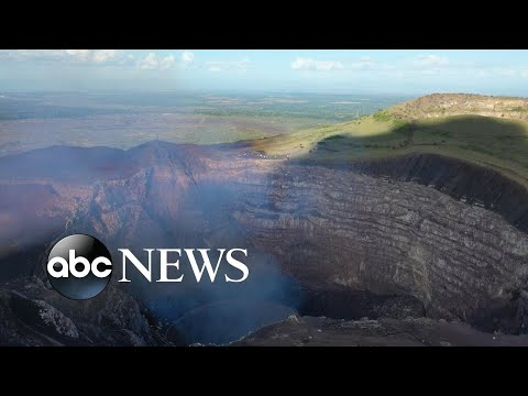 Live look at volcano lava lake in Nicaragua l ABC News