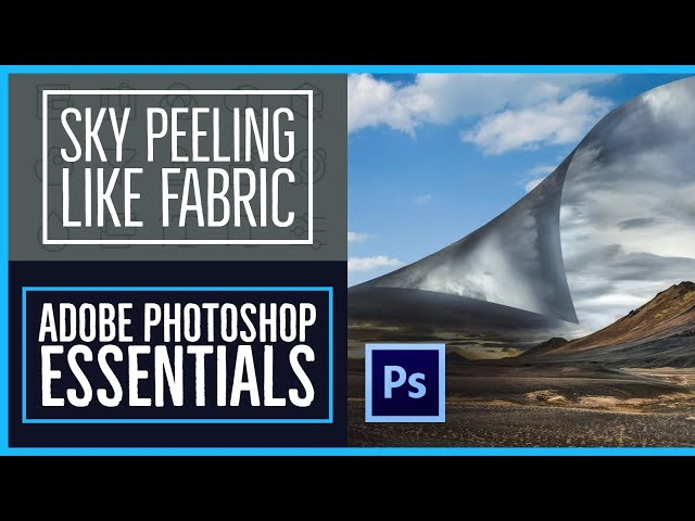 How to make a sky peeling like fabric revealing background - Photoshop CC Essentials [48/86]