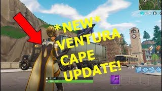 *NEW* VENTURA SKIN UPDATE CAPE! Fortnite Battle Royale