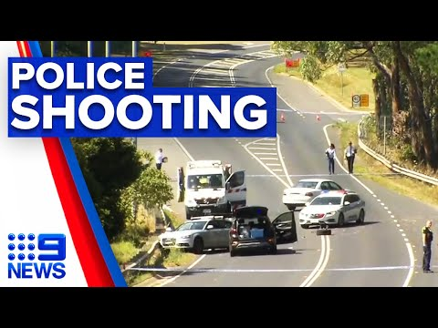 Man shot dead after charging police with knife | 9 News Australia thumbnail