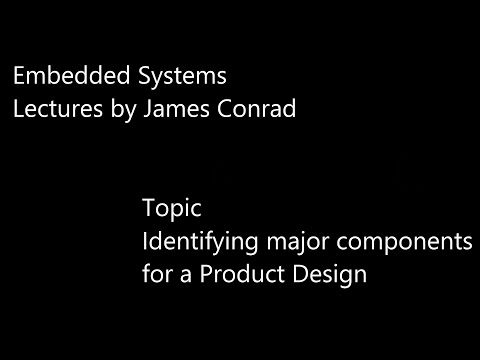 Embedded Systems:  Identifying Major Components for a Product Design
