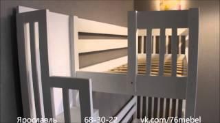 Кровать двухъярусная массив сосны(, 2016-01-09T19:21:25.000Z)