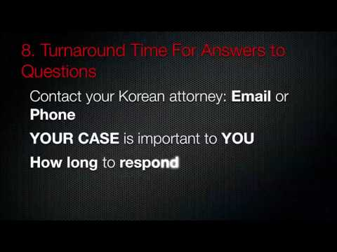 Hiring a lawyer or law firm in Seoul, South Korea 2