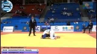European Judo Championship Chelyabinsk 2012 -48kg KONDRATYEVA Nataliya (RUS)-HORMIGO Ana (POR)